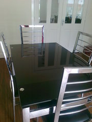 Chrome table and 4 chairs