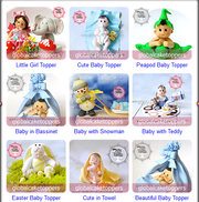 Order Cute Baby Christening Cake Toppers Online